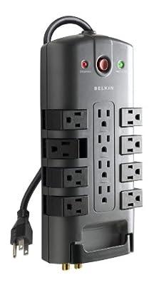 Belkin BP11223008 12-Outlet Pivot-Plug Surge Protector Power Strip