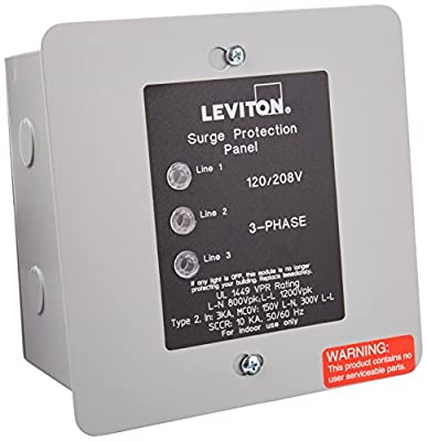 3.  Leviton Residential Surge Protection Panel