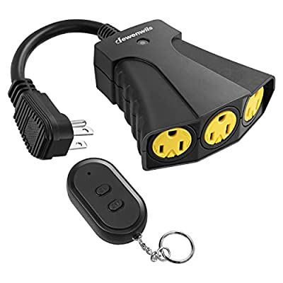 5.  DEWENWILS Remote Weatherproof Outdoor Power Strip Switch