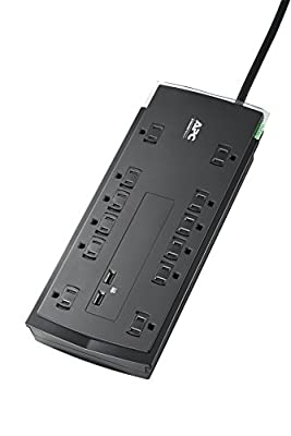 2.  APC Performance SurgeArrest 12 Outlet with 2 Port 2.4 A USB Charger 120V (Model: P12U2)