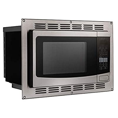 2.  RecPro 1100 Watt RV Microwave Convection Oven in Stainless Steel