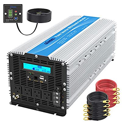 6.  5000 Watt Super Heavy Duty Power Inverter for Truck with Remote Control and LCD Display and 4 AC Sockets Dual USB Ports