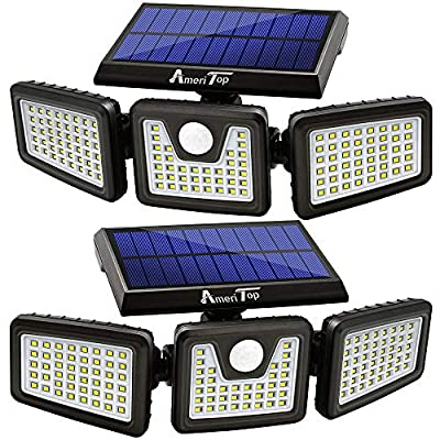Navigate to the detailed review of Solar Motion Sensor Lights by AmeriTop product [ID: B07XLF6QHV]