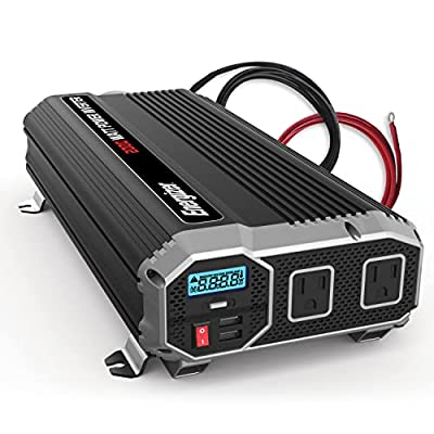 3.  Energizer Heavy Duty 2000 Watts Power Inverter for Truck Use with Two 2.4amp USB Ports