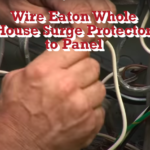 Eaton Whole House Surge Protector Wiring to Electrical Panel